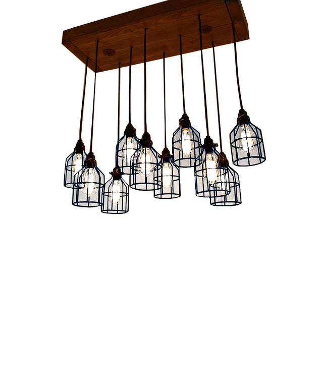 Born Again Woodworks Cage Light Chandelier