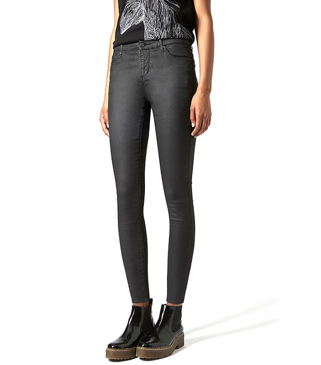 Topshop Moto Tencel Coated Leigh Jeans