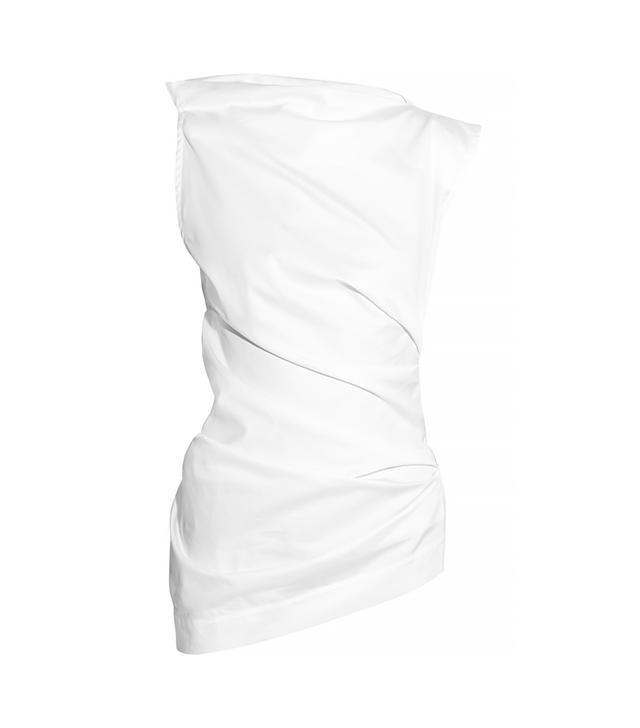 Vivienne Westwood Taxa Draped Cotton Top