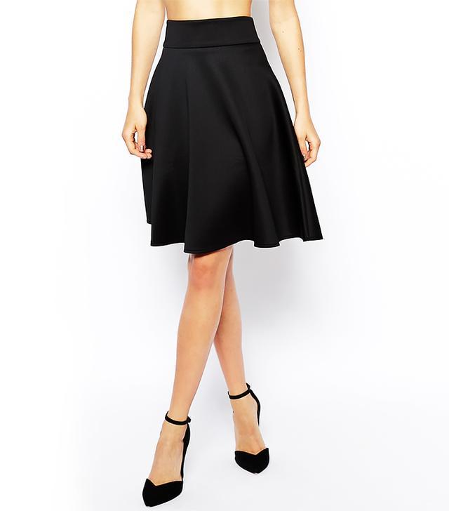 ASOS Knee Length Skirt In Scuba