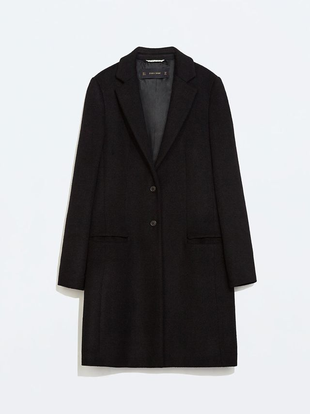 Zara Wool Coat with Lapels