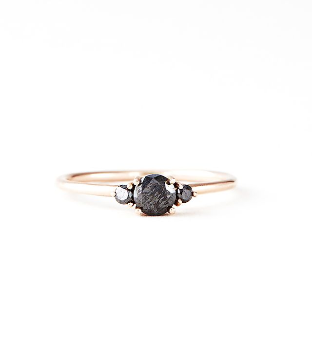 Bianca Monros Gomez 3 Stone Solitaire Ring