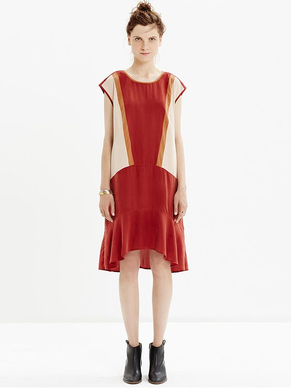 Madewell Skyscape Dress in Colorblock