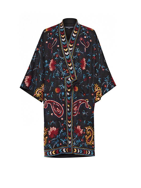 French Connection Miko Stitch Kimono Coat