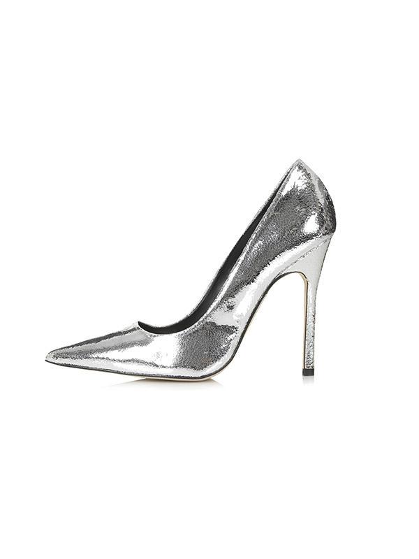 Topshop Gallop Metallic Court Shoes