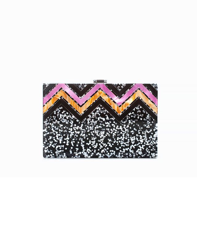 Zara Glitter Box Clutch