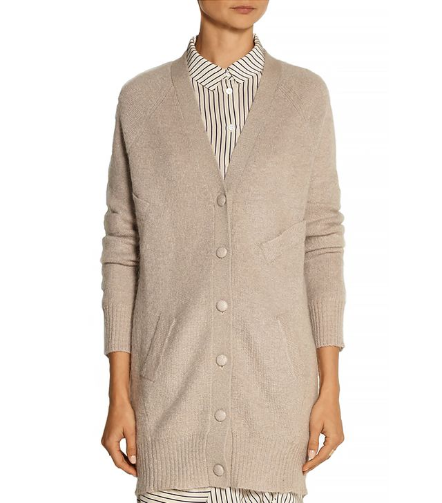 Band of Outsiders Oversized Mohair-Blend Cardigan