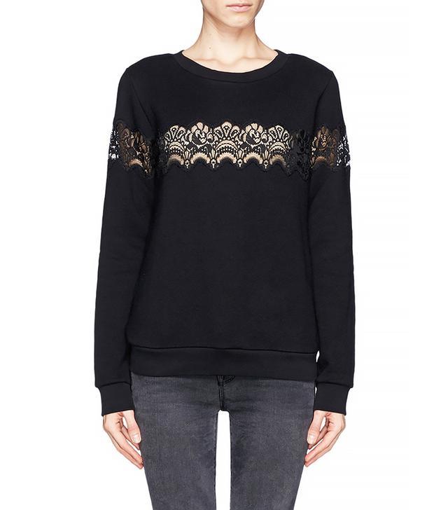 Sandro Torr Lace Detail Sweatshirt