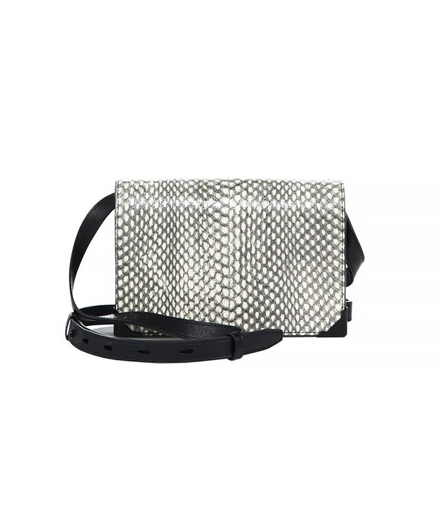 Alexander Wang Prisma Leather & Python Envelope Crossbody Bag