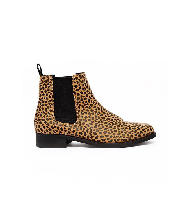 Monki Selina Leopard Print Chelsea Boot