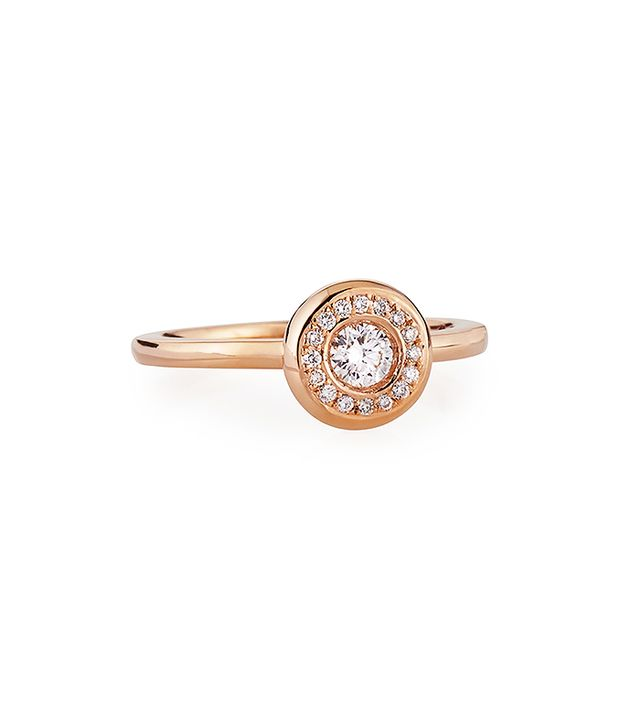 Roberto Coin Rose Gold Pave Diamond Ring