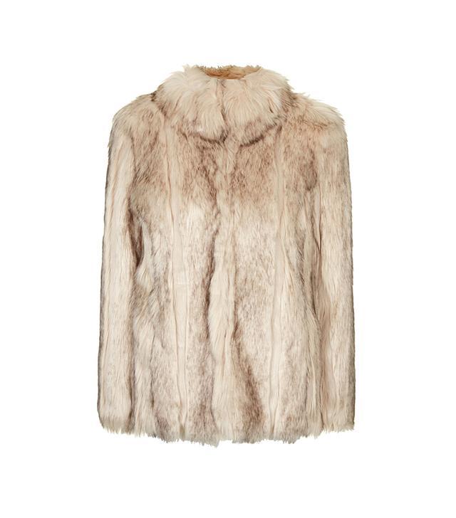 Topshop Chunky Faux Fur Coat