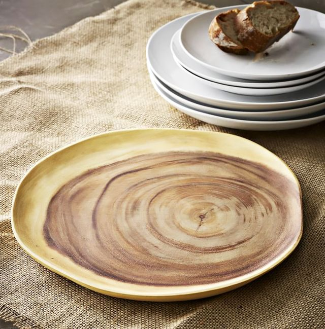 West Elm Wood Slice Charger