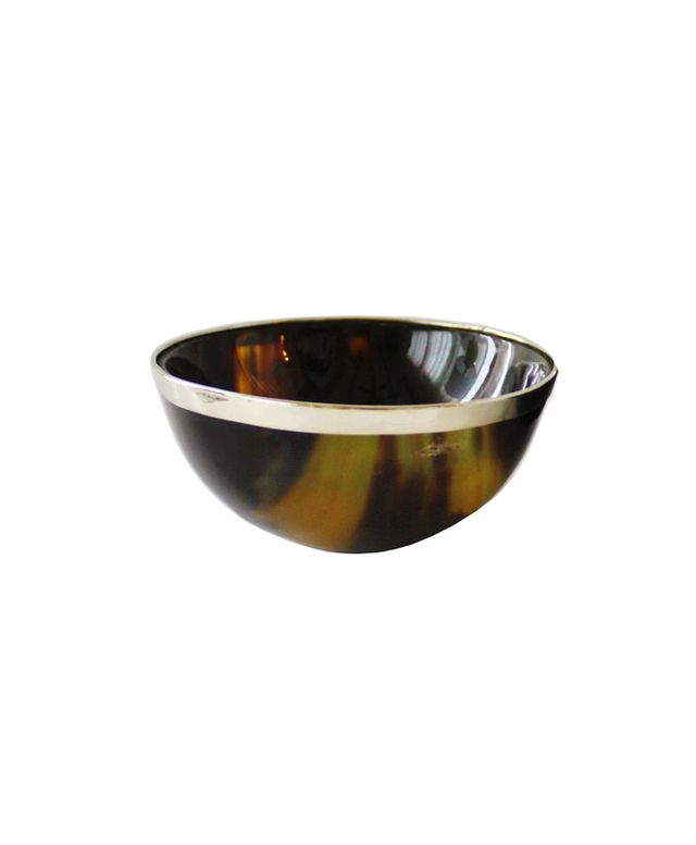 High Street Market Small Silver Trimmed Horn Bowl