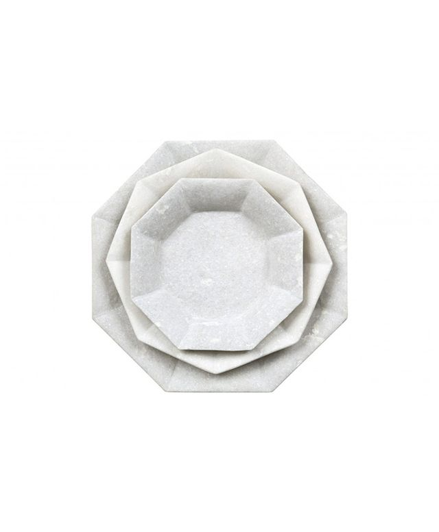 Jayson Home Octagon Marble Plates