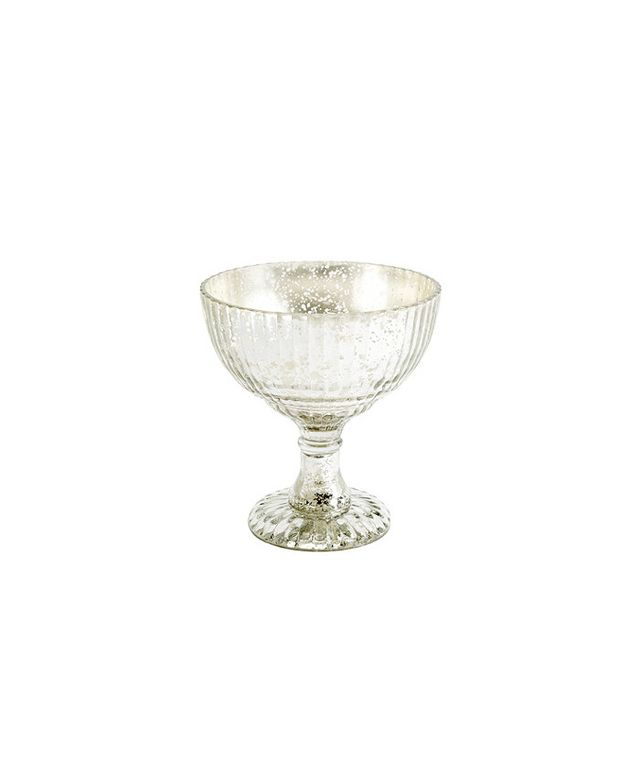 Ballard Designs Mercury Glass Pedestal Bowl