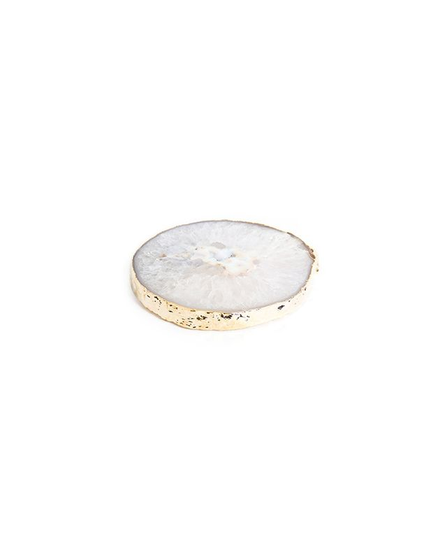 Jonathan Adler Natural and Gold Agate Trivet