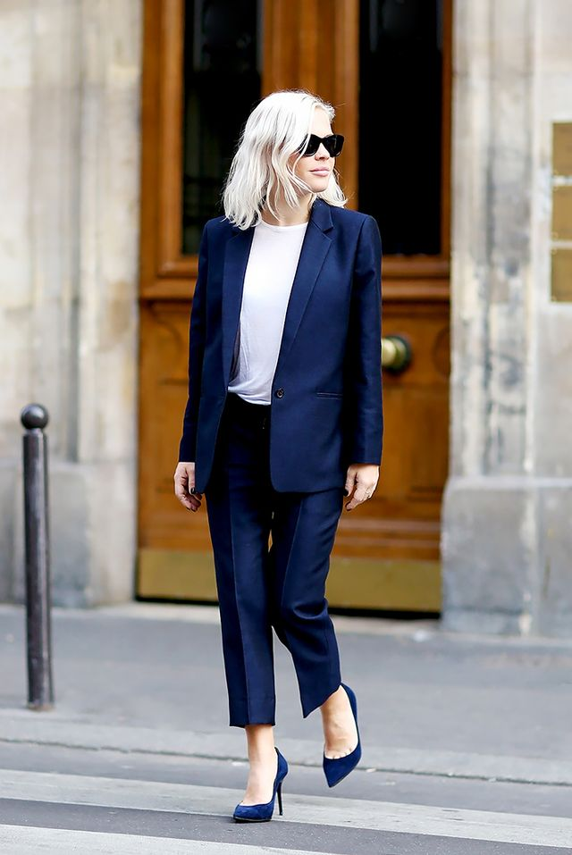 Outfit Combo: Casual T-Shirt + Matching Pantsuit