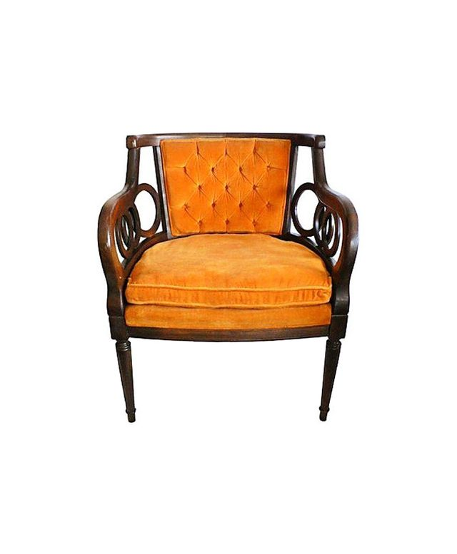 Chairish Midcentury Orange Lewittes Armchair
