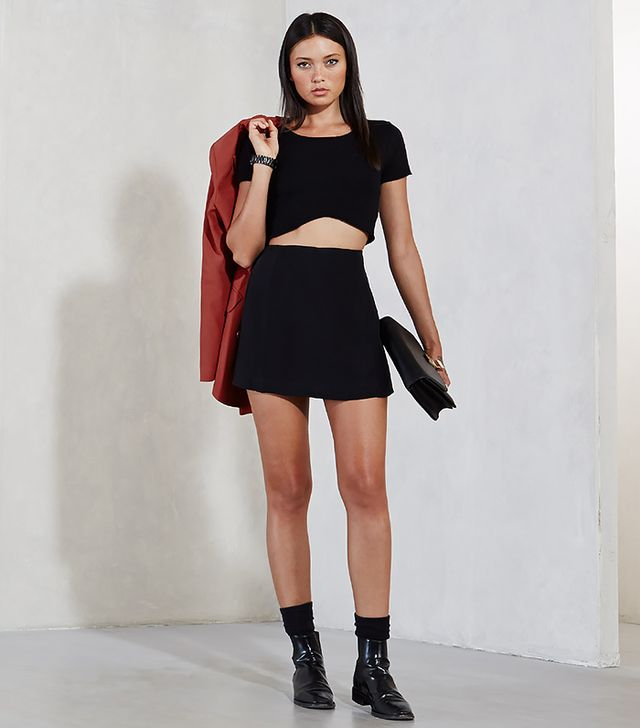 Reformation Valentina Skirt in Black