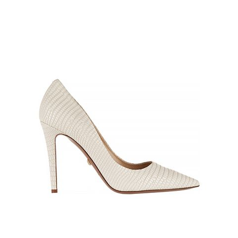 Bethany Lizard-Effect Leather Pumps