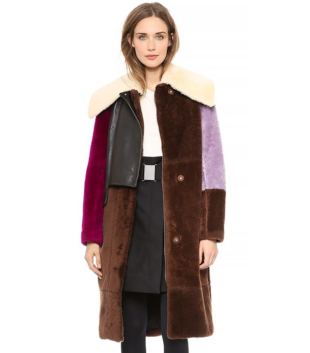 3.1 Phillip Lim Patchwork Shearling Coat