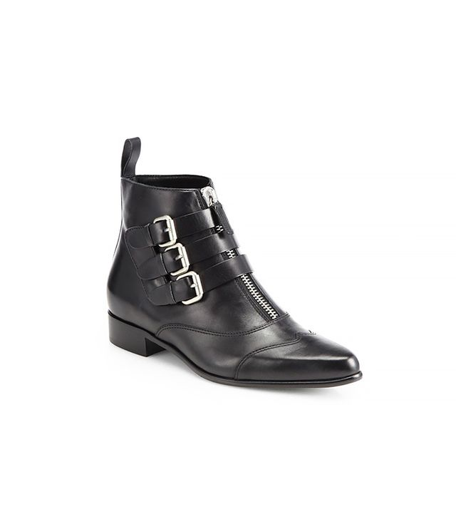 Tabitha Simmons Early Leather Motorcycle Ankle Boots