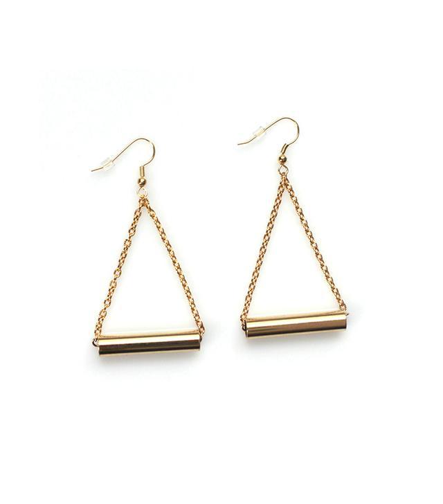 Ash & Willow Gold Bar Drop Earrings