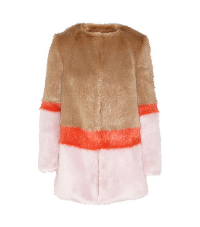 Shrimps Mabel Colour-Block Faux Fur Coat