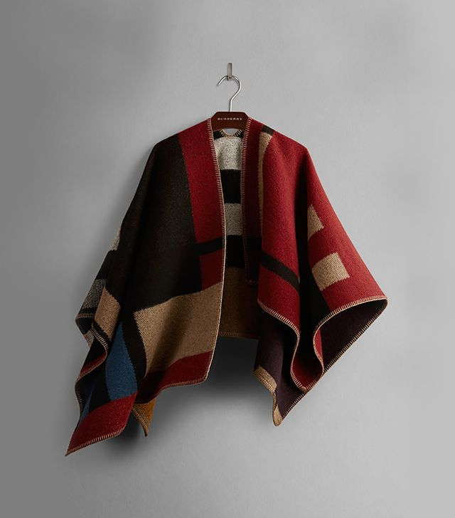 Burberry Block-Check Blanket Poncho
