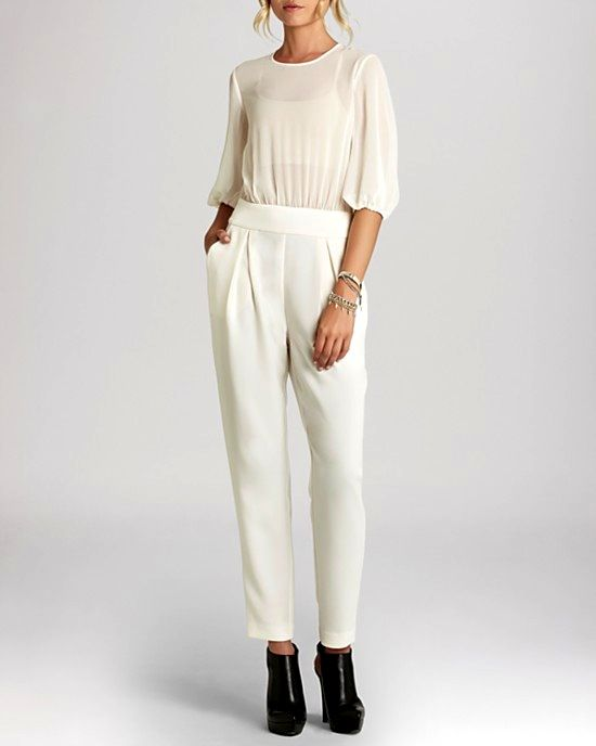BCBGeneration Straight Leg Jumpsuit