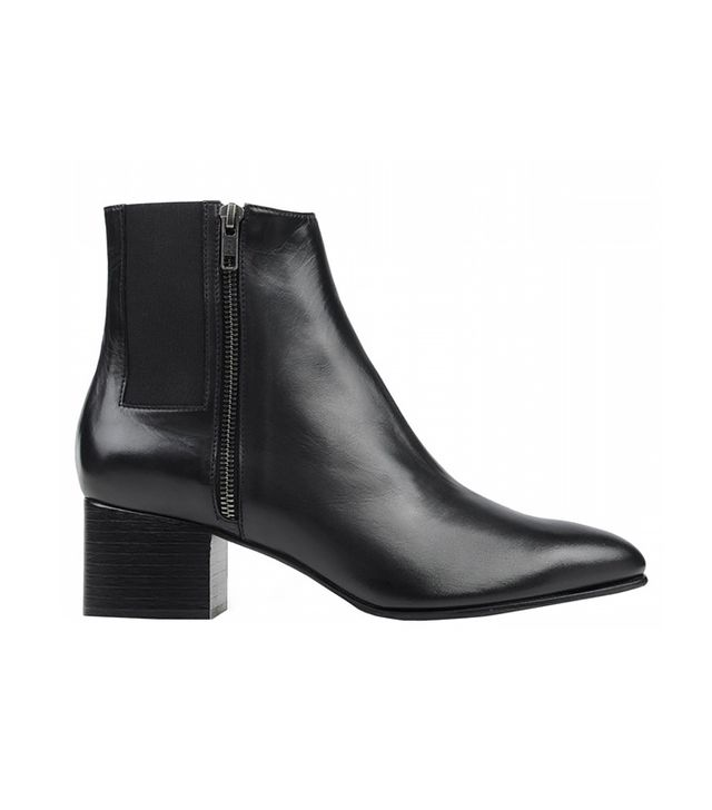 Opening Ceremony Black Leather Ankle Boot