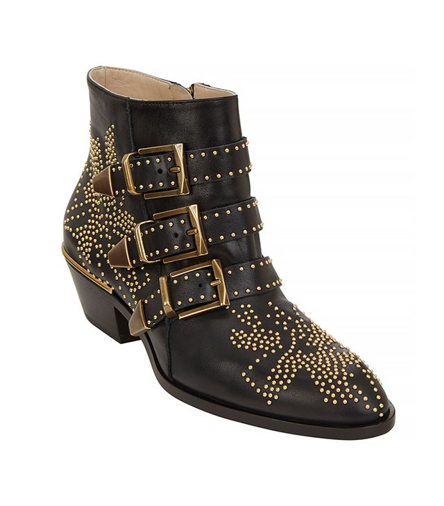 Chloé Suzanna Studded Leather Ankle Boot