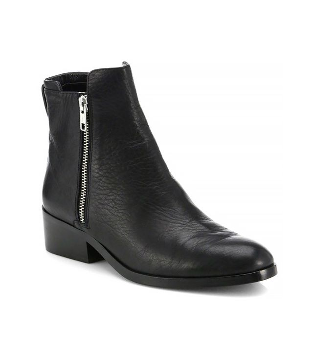 3.1 Phillip Lim Alexa Leather Double-Zip Ankle Boots