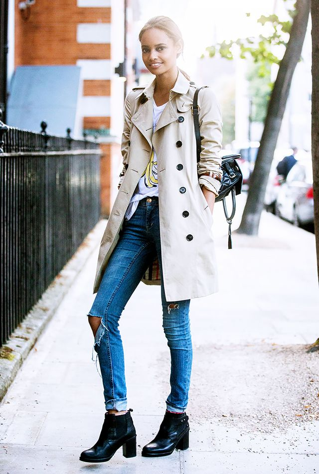 Want to pair your favorite ankle boots with a slightly undone look? Take notes!