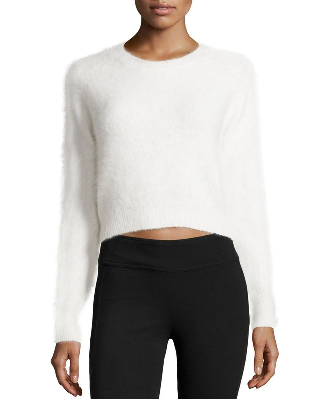 Line Angora-Blend Cropped Sweater