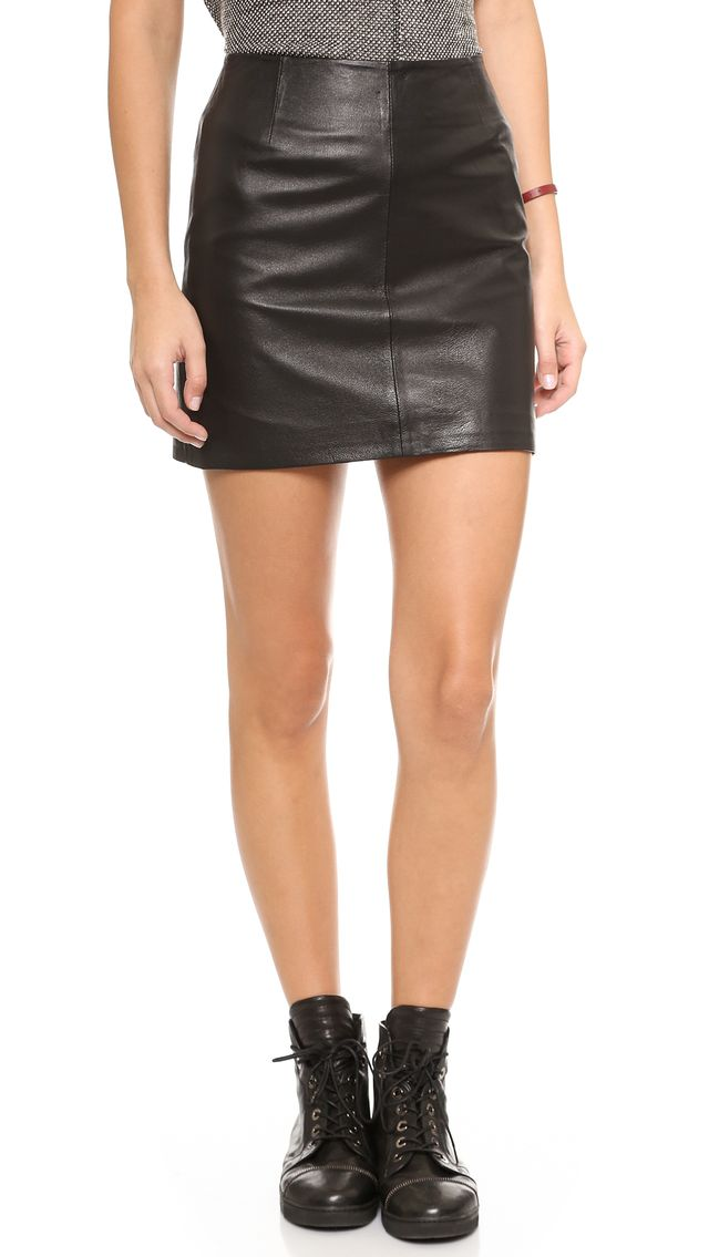 BB Dakota Eloy Leather Miniskirt