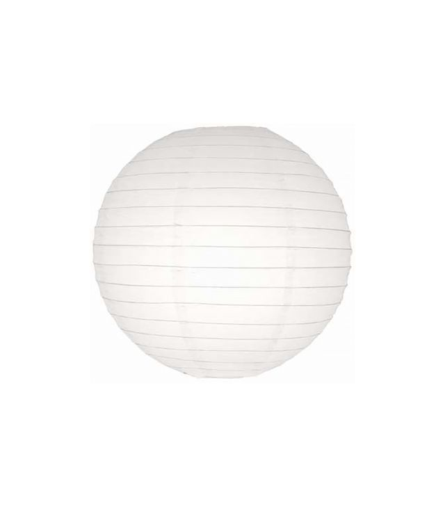 "Paper Lantern Store 30"" White Even Ribbing Round Paper Lantern"