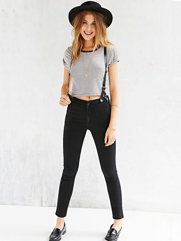 Courtshop James High-Rise Suspender Jeans