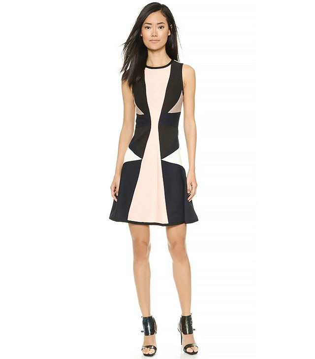 Jonathan Simkhai Pleated Jersey Flare Dress