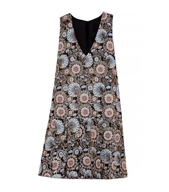 J. Crew Collection Metallic Floral Dress