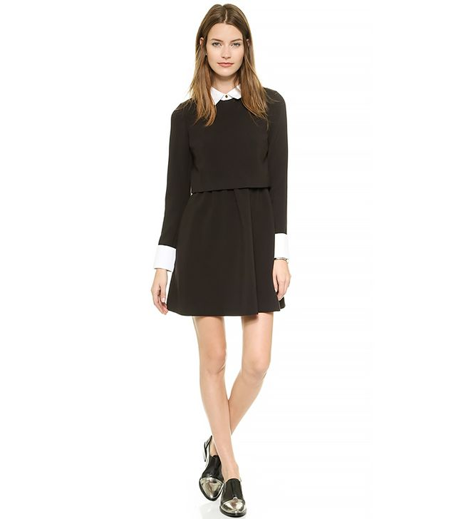 Rachel Zoe Onyx Collared Fit & Flare Dress