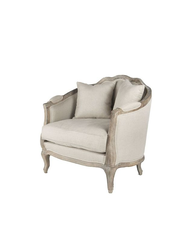Wisteria Natural Linen European Chair