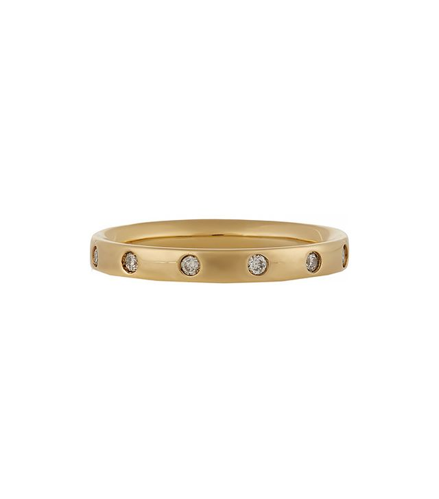 Monica Vinader Skinny Crown Gold-Plated Diamond Ring