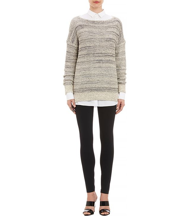 Vince Purl-Stitched Drop-Shoulder Pullover Sweater