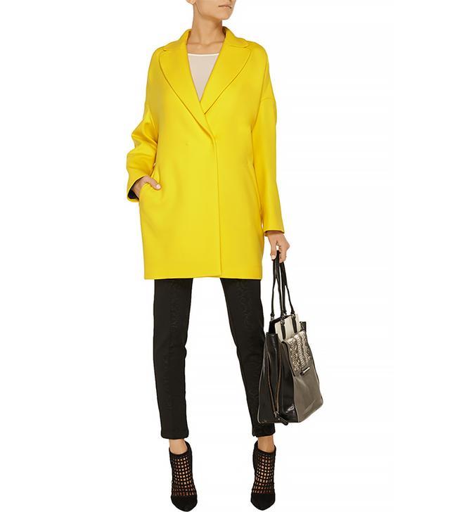 Vionnet Oversized Stretch-Wool Twill Coat