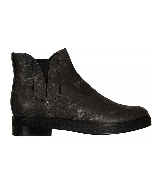 Alexander Wang Dewi Distressed Leather Ankle Boots