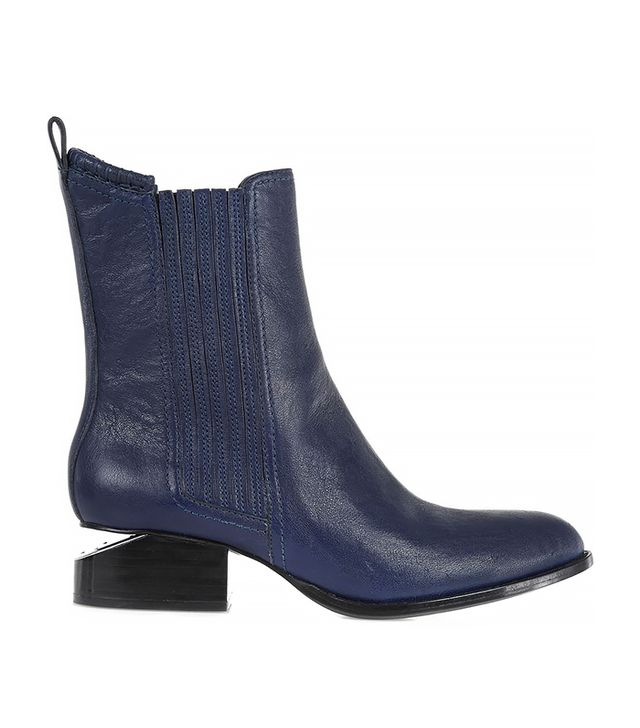 Alexander Wang Anouck Cut-Out Heel Leather Ankle Boot