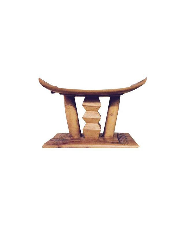 Chairish Asante Carved African Stool