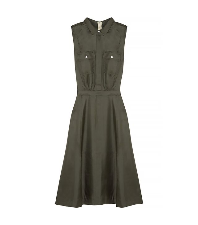 Band of Outsiders Silk-Satin Twill Dress